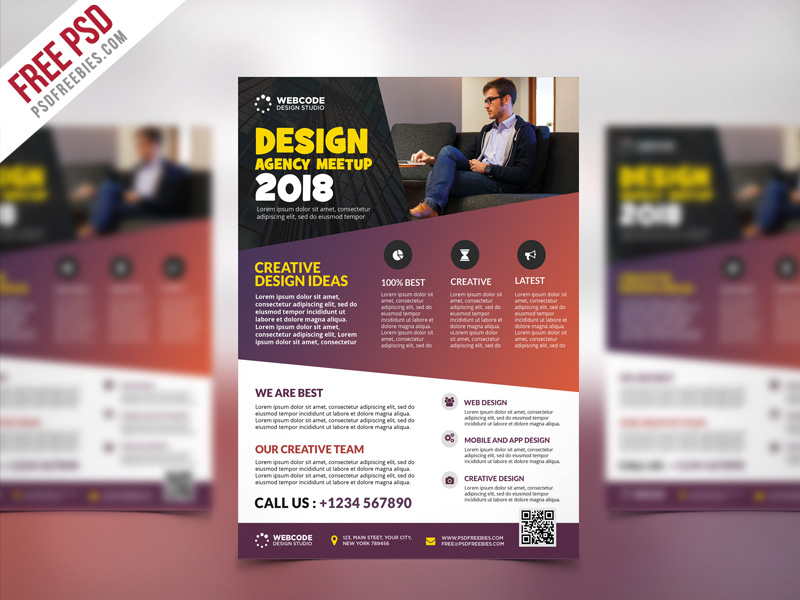conference announcement flyer psd template psdfreebies com