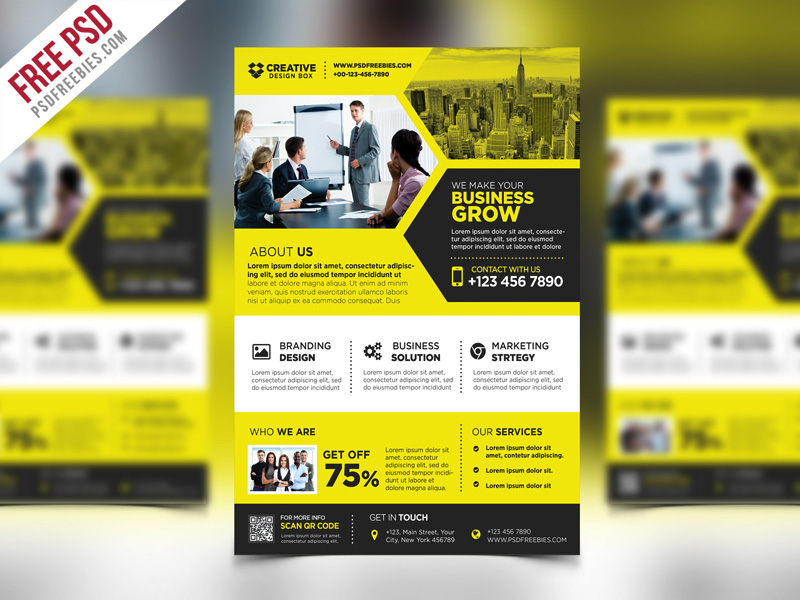 corporate business promotional flyer psd template psdfreebies com