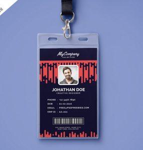 Corporate Company Photo Identity Card Template PSD