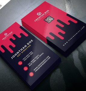 Creative Digital Agency Business Card Template PSD