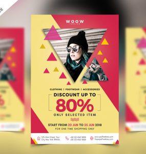 Fashion Sale Promotion Flyer PSD Template