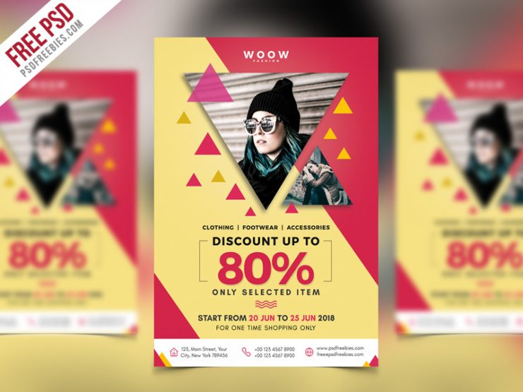 Fashion Sale Promotion Flyer PSD Template
