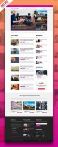 Multipurpose Magazine Blog Web Template Free PSD