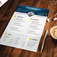 Professional Designer Resume CV Template PSD
