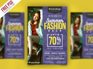 Summer Fashion Sale Flyer PSD Template