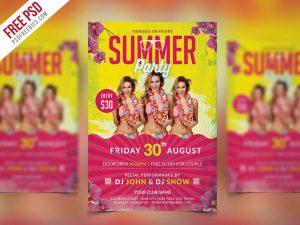 Summer Party Flyer PSD Template