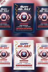 4th of July Event Flyer PSD Template Bundle