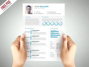 Clean and Elegant Resume Template Free PSD