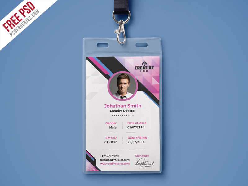 Company Photo Identity Psdfreebies Template com Card Psd