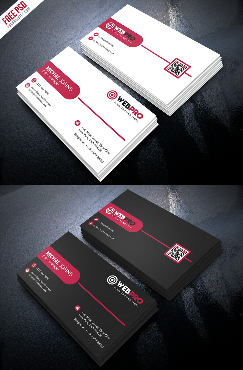 corporate modern business card psd template set