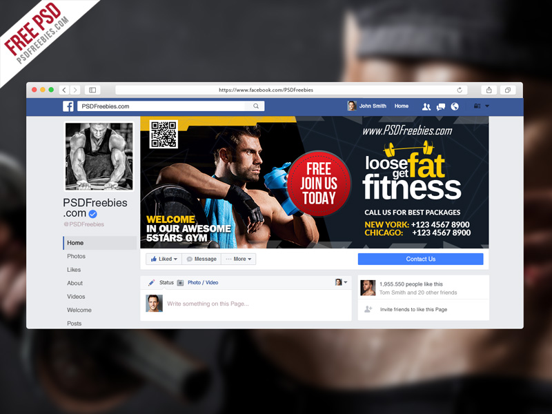 Gym fitness facebook fanpage cover template psd for Gym layout design software free