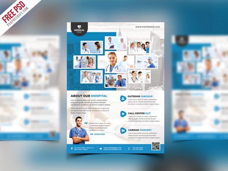 Health Clinic and Hospital Flyer PSD Template