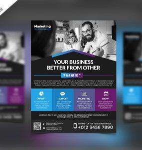 Multipurpose Promotional Flyer PSD Template