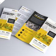 Multipurpose Tri-fold Brochure PSD Template