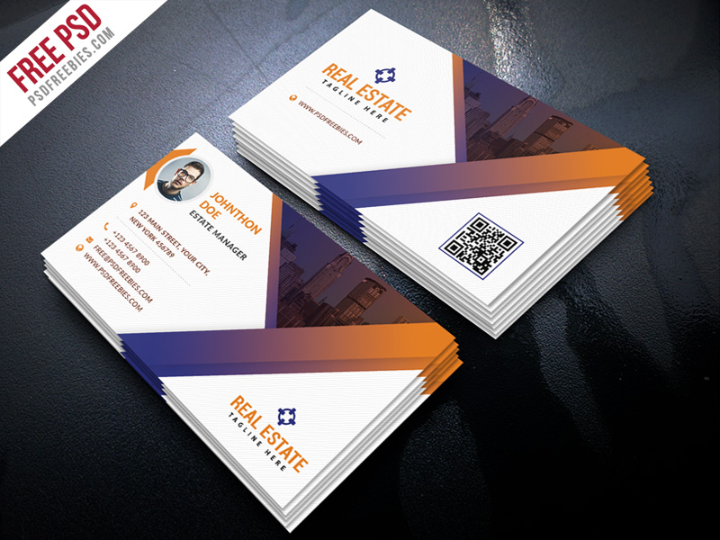 Real estate business card template free downloads real estate.