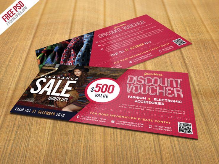 Sale Discount Voucher PSD Template Freebie