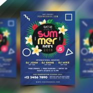 Summer Beach Party Flyer PSD Template