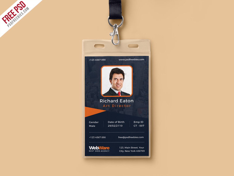 vertical company identity card template psd psdfreebies com