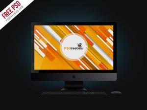 Apple iMac Pro Mockup Free PSD