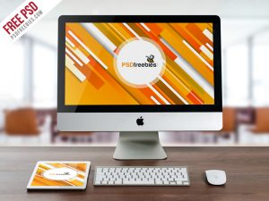iMac and iPad Mockup Free PSD