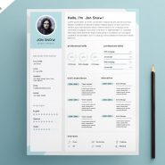 Clean Resume CV Template PSD Template