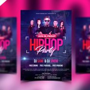 HipHop Party Invitation Flyer PSD Template