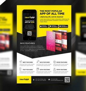 Mobile App Promotion Flyer Template PSD