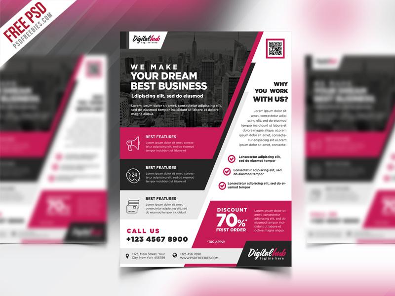 multipurpose modern business flyer psd template psdfreebies com