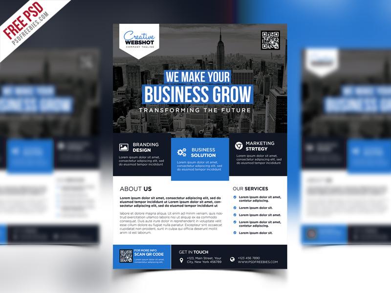 Premium Advertising Flyer PSD Template