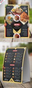 Restaurant Menu Table Tent Card PSD Template