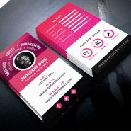 Resume Style Business Card PSD Template
