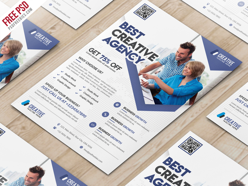 business marketing flyer free psd template psdfreebies com