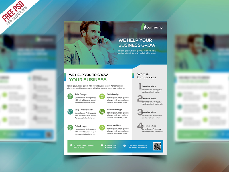 Clean Business Flyer Template Free Psd Psdfreebies
