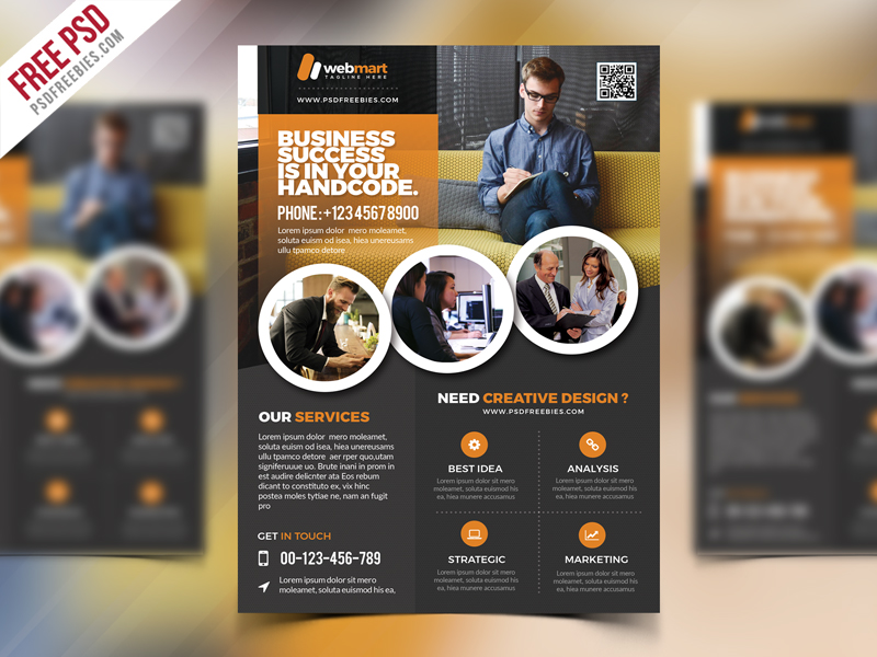 Corporate Flyer Template Free Psd Psdfreebies