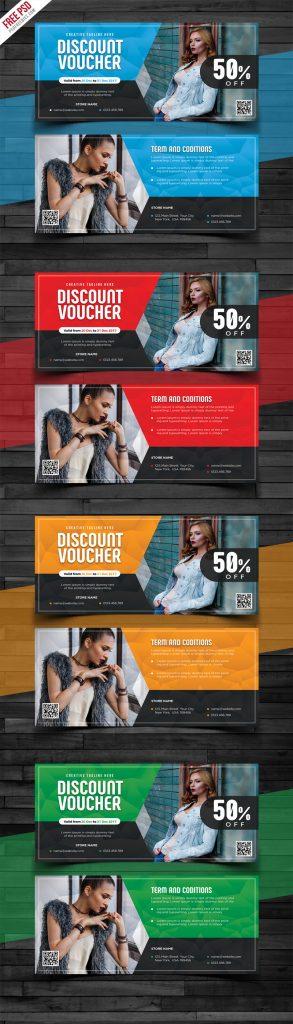 Discount Voucher Design Free PSD Bundle