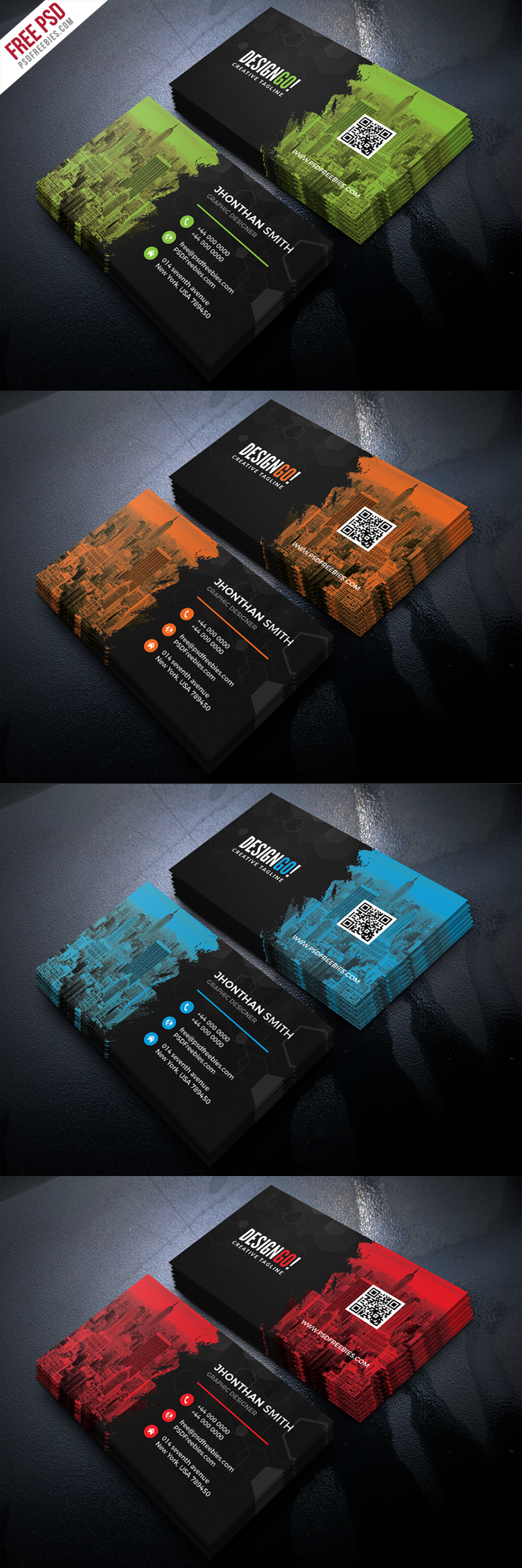Free Corporate Business Card PSD Bundle
