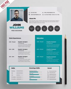Free Creative Resume Template PSD