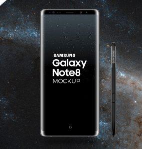 Galaxy Note 8 Mockup PSD