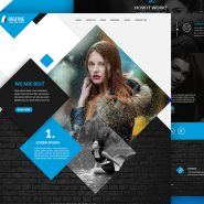 Multipurpose Portfolio Website Template Free PSD