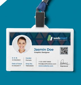 Office ID Card Design PSD