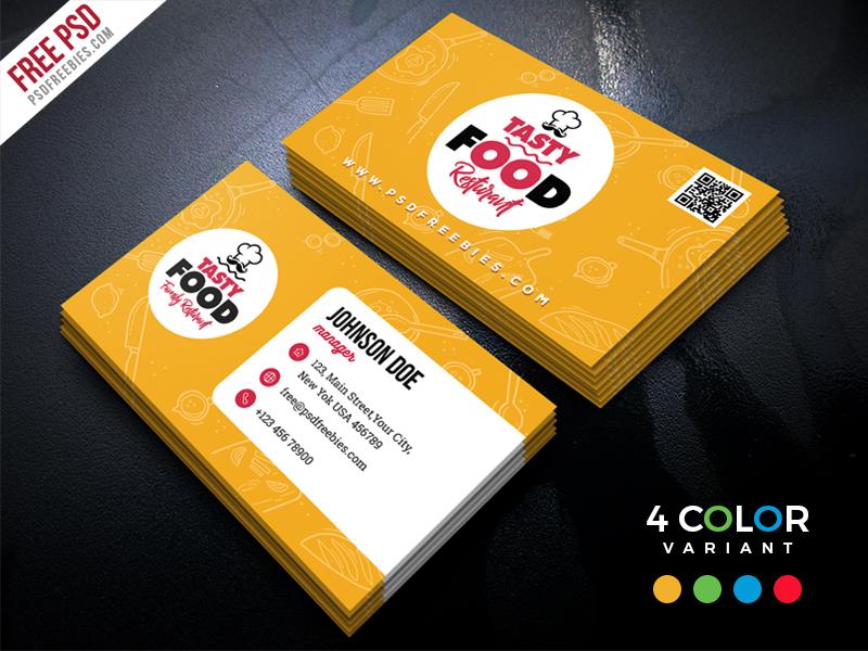 Restaurant Business Card Free Psd Bundle Psdfreebies Com