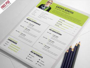 Designer Resume Template Free PSD