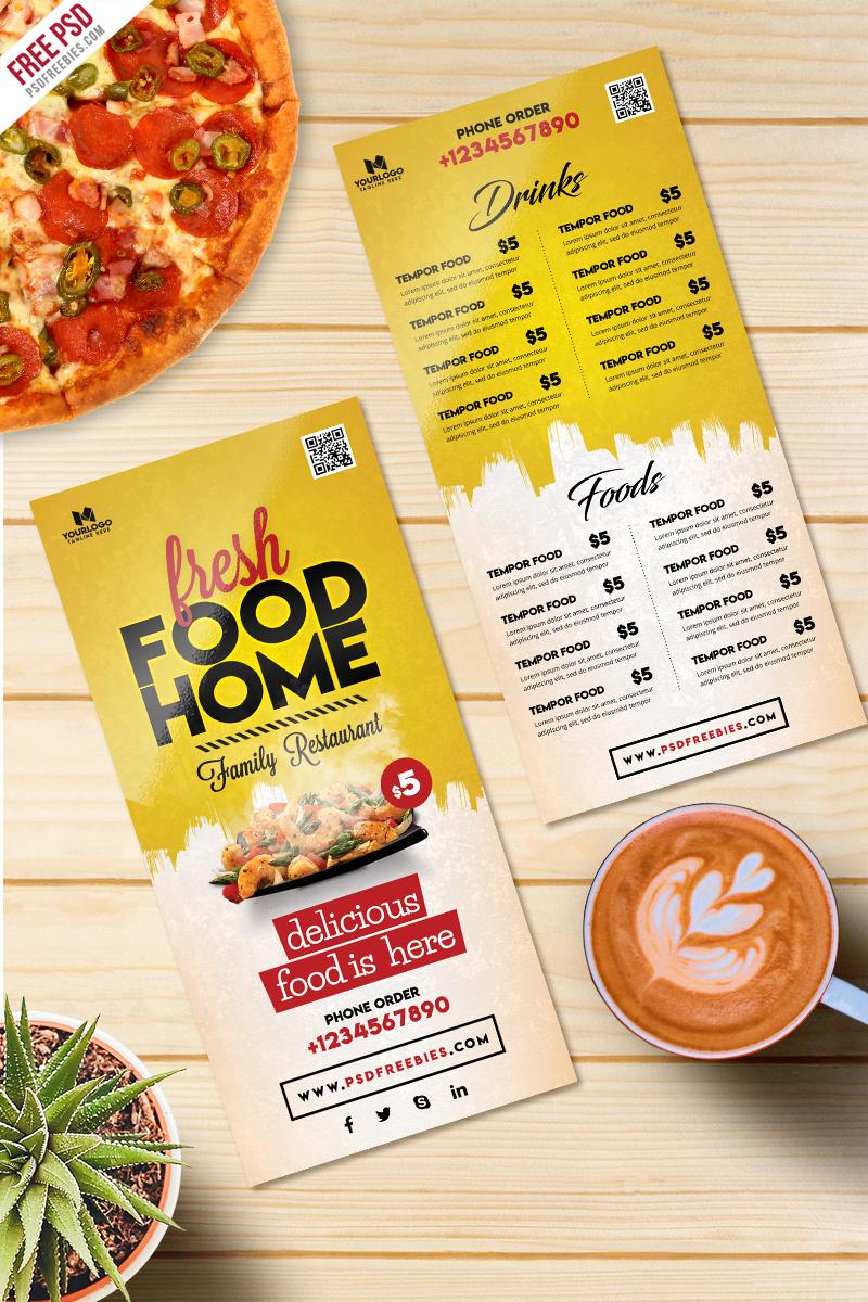 Food Menu Card PSD Template Freebie | PSDFreebies.com
