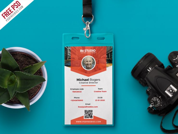 Free Office Identity Card PSD