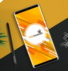 Galaxy Note 8 Mockup Free PSD