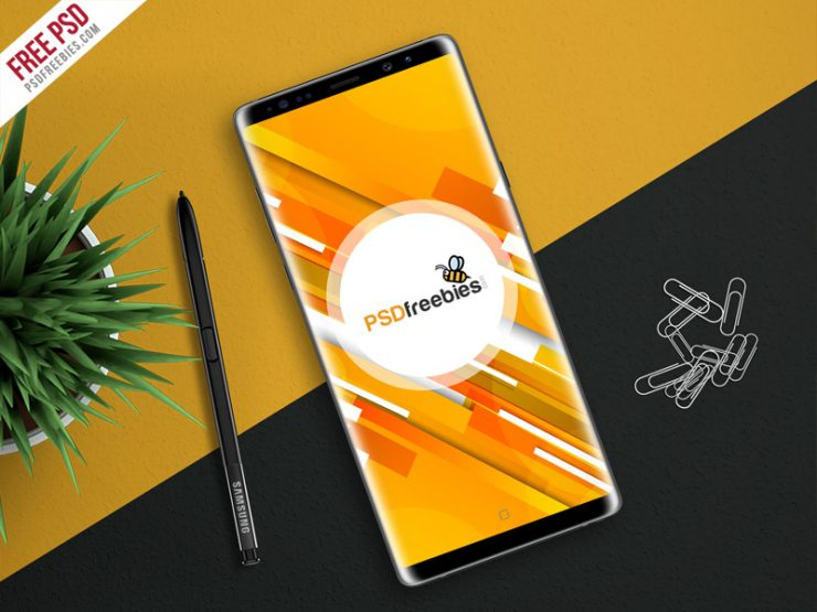 Galaxy Note 8 Mockup Free PSD
