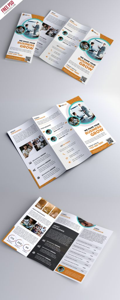 Trifold Brochure Template Free PSD