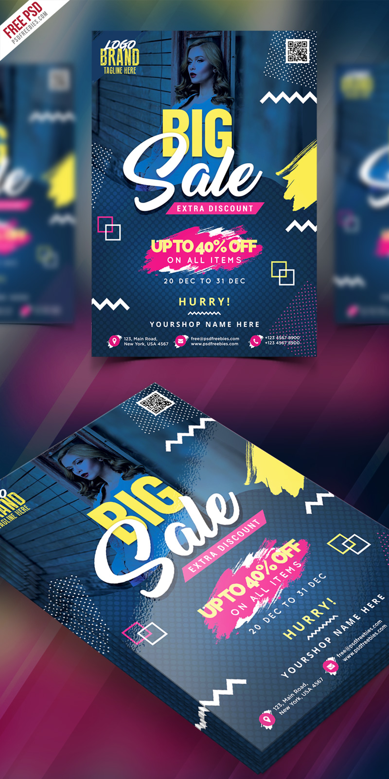 Big Sale Flyer Poster Free PSD