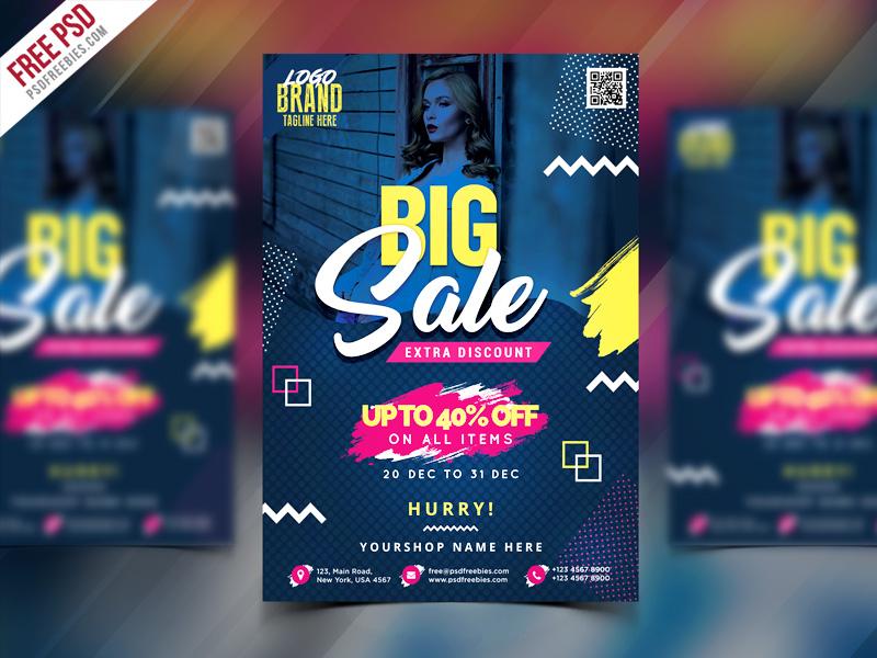 big sale flyer poster free psd psdfreebies com