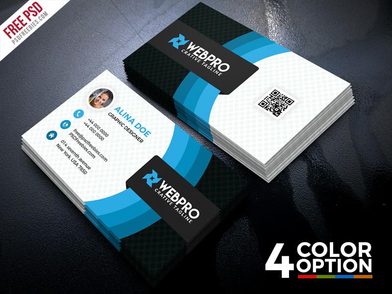 Corporate Business Card Free PSD Set